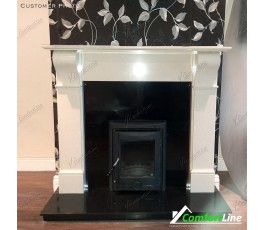 NAPLES FIREPLACE SET + INSERT STOVE, FULLY FITTED