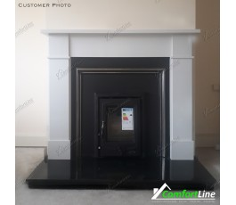 FLAT VICTORIAN FIREPLACE SET + INSERT STOVE 5KW + FULLY FITTED