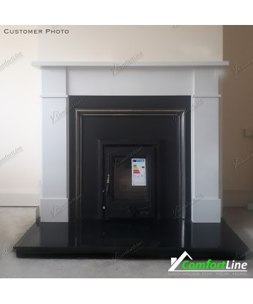 Flat Victorian cream Marble Fireplace