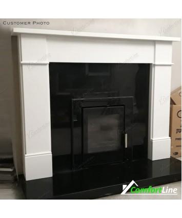 Flat Victorian Marble Fireplace &  big Insert stove Vitae 9kw