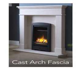 "16"" Inset Electric Fire with Cast Arch Black Fascia"