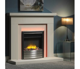 "16"" Inset Electric Fire with Chrome/Black Fascia"