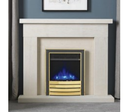 "16"" Inset Electric Fire with Brass Fascia"