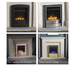 "16"" Inset Electric Fire with All Chrome Fascia"