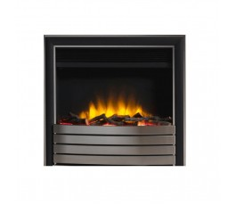 "22"" Inset Electric Fire Chrome/Black Fascia"