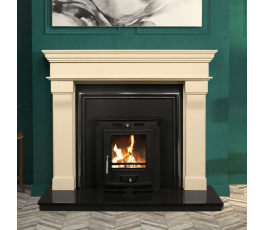 VENETO FIREPLACE SET + INSERT STOVE 6kw, FULLY FITTED