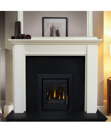 Lugano Cream Marble Fireplace
