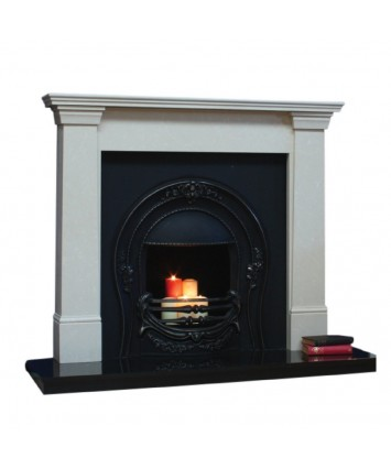 Milan Cream Fireplace Set Fully Fitted
