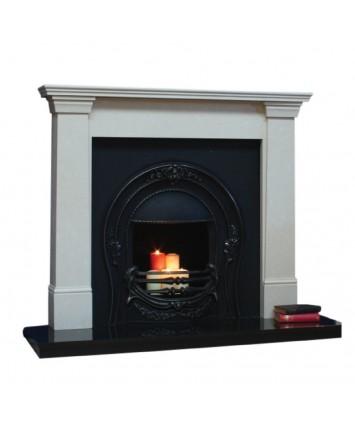 Milan marble cream fireplace