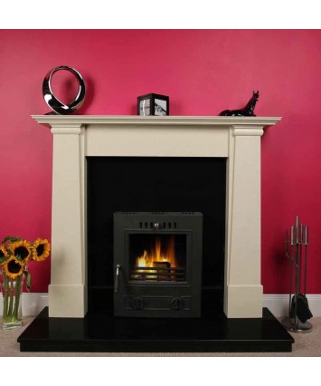 Cruz Fireplace Set with fitted Insert Stove