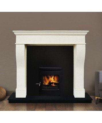 Pisa Marble Fireplace Set & Insert Stove
