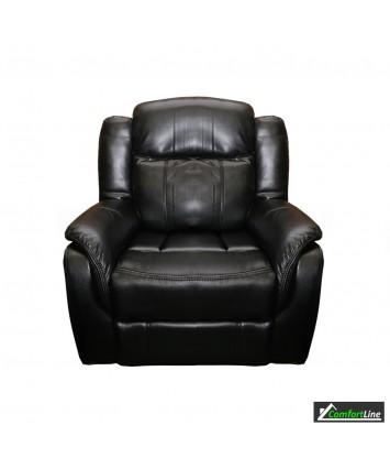 Brooklyn recliners set 3+2+1 Black Air Leather