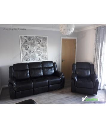 Brooklyn Recliner sofa set 3+2 black