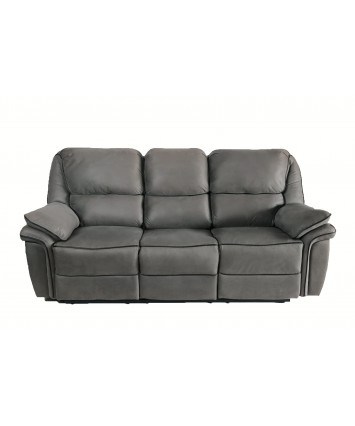 Gizelle Recliner 3-Seater Sofa Brown