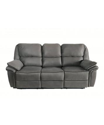 Gizelle Recliner 3-Seater Sofa Light Grey