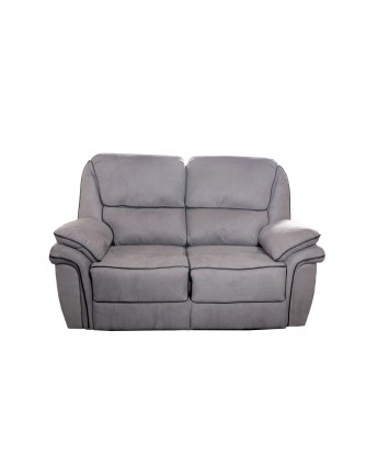Gizelle Recliner 2-Seater Sofa Grey Fabric