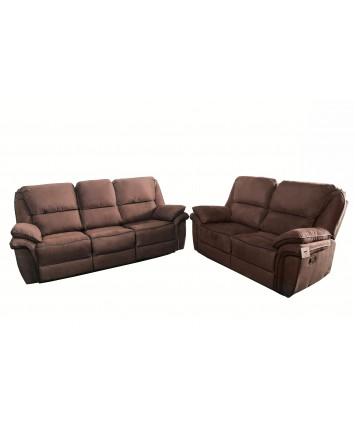 Gizelle Recliner Sofa Set 3+2 Brown