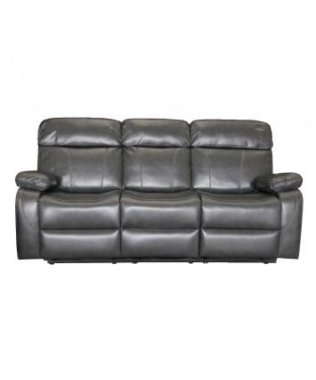 Madrid 3-Seater Recliner Sofa Grey