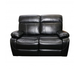 MADRID 2 SEATER SOFA BLACK