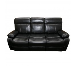 MADRID 3 SEATER SOFA BLACK