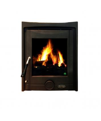 Heritage Pollmore 5kw Multi-Fuel Inset stove, matt