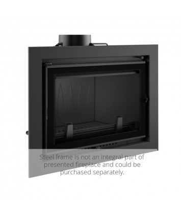 Wictor 14kw Deco - Contemporary Insert stove with wide frame