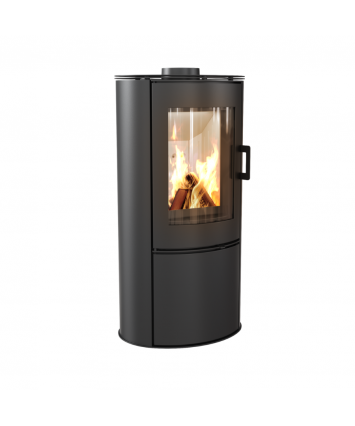 Stove Koza AB S/DR with Cylindrical, Modern Design