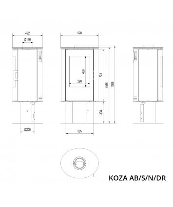 Kratki Koza AB/S/N/DR on Pedestal
