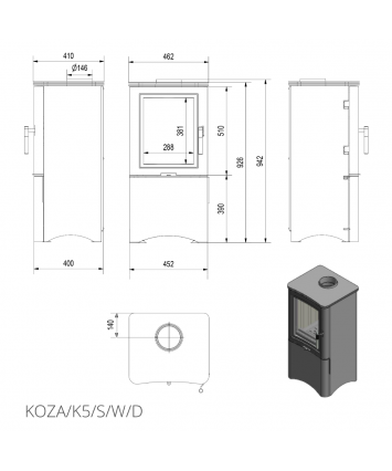 KOZA K5 with closed log box